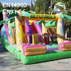 Inflatable Coconut Palm Bouncy Castle Slide