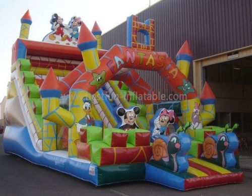 Outdoor Commercial Grade Mickey Inflatable Slide