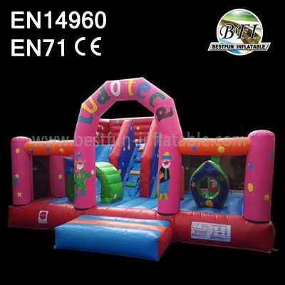 Pink Backyard Inflatable Slides Playground