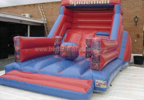 Superman Inflatable Slide Jumper Combo Bouncer