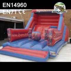 Superman Theme Inflatable Cheap Slide