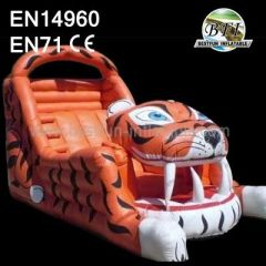 Inflatable Tiger Slide Jumper Combo Bouncer