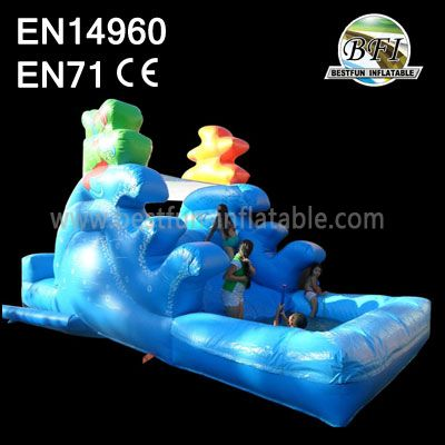 Inflatable Wavy Slide With Pool