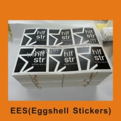 custom vinyl eggshell sticker