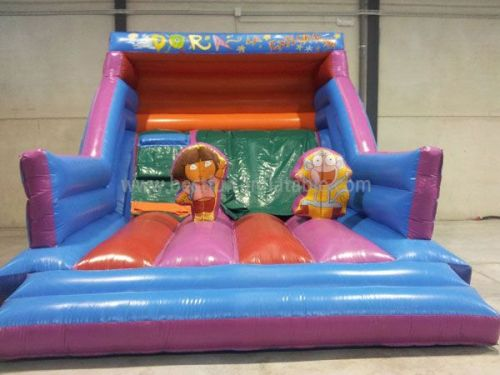 Classic Dora theme Bounce Inflatable Slide