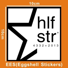 security sticker destructible eggshell sheet