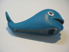 Whale Carved Wood Bottle Opener
