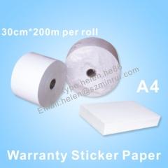 self destructive warranty paper