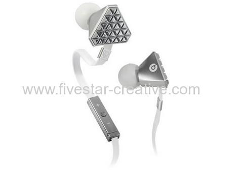 Lady Gaga Silvery High Performance In-Ear Headphones