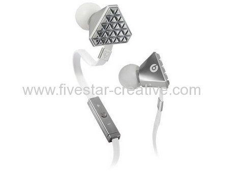 Monster Lady Gaga Silvery High-Performance In-Ear Headphones