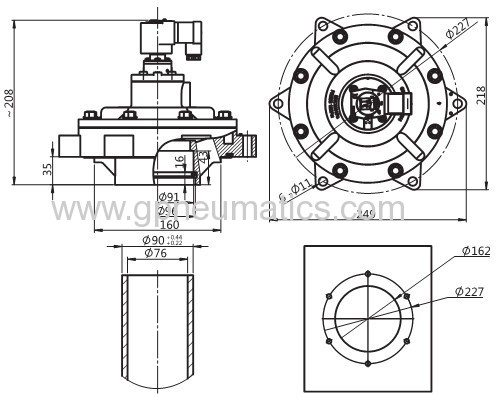 Pulse jet diaphragm valves
