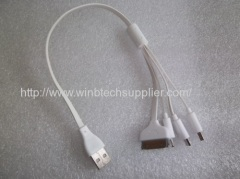 4in1 usb cable for iphone ipad samsung htc apple blackberry etc.