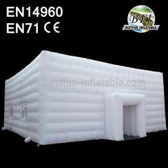 White Inflatable Cube Building Rentaling