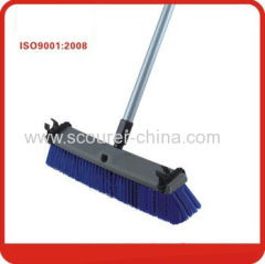 PP+iron pp+pet bristle+iron handle Large and strong outdoor broom floor brush