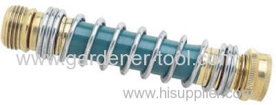 Kink Free hose protector with steel coil spring.