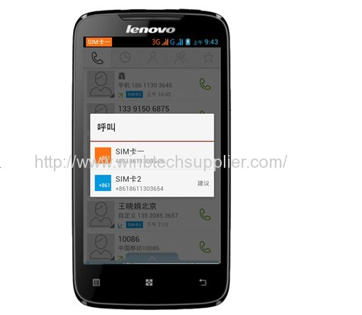 Original New Lenovo A390 phone MT6577 Dual Core Phone 4 inch Android 4.0 GPS WCDMA 3G Smart Phone Russian support