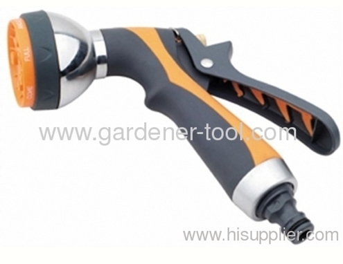 Garden PU Retract Water Hose With Advance 7-Pattern Garden Water Nozzle