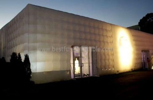 For Exhibition White Cube Inflatable Tent With Rooms