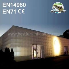 White Light Inflatable Cube Buildings