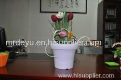 Cheap Durable Wood Grain Flower Pots