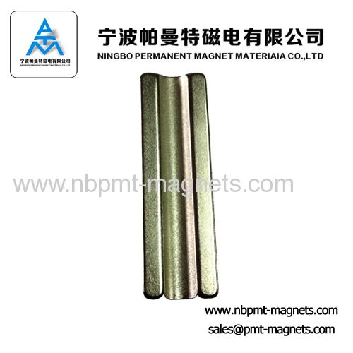 Neodymium magnetic tile for high performance motor