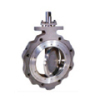 stainless steel double flanged butterfly valve
