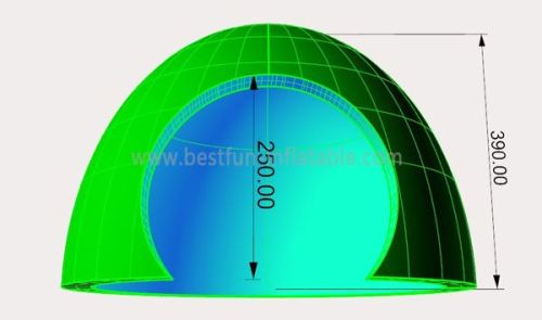 Green Inflatable Marquee Dome