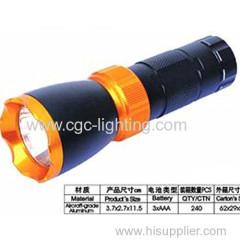 Aluminum dry battery flash light