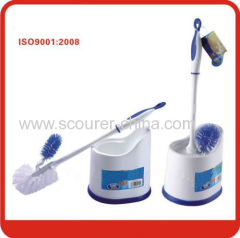 Eco-Friendly toilet brush with holder for Blue with white Color