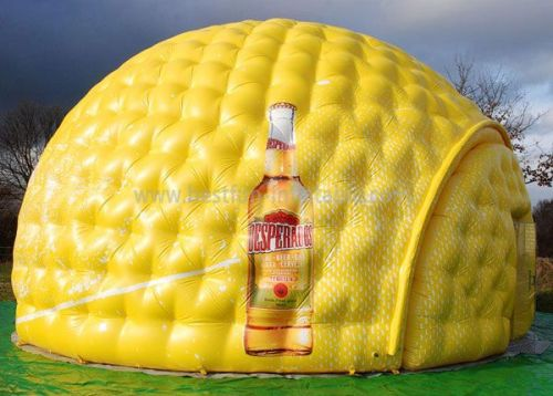 Inflatable Dome Tent For Exhibition With Glass Door