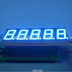 Display de LED de 7 segmentos Ultra-Azul de 5 dígitos de 14,2 mm (0,56 polegadas), -63 x 19 x 8 mm