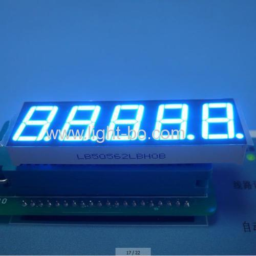 Ultra Blue Five-Digit 14.2mm (0.56 inch) 7-Segment LED Dislay,-62.5 x 19 x 8 mm