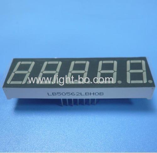 Ultra Blue Five-Digit 14.2mm (0.56 inch) 7-Segment LED Dislay,-62.5 x 19 x 8 mm