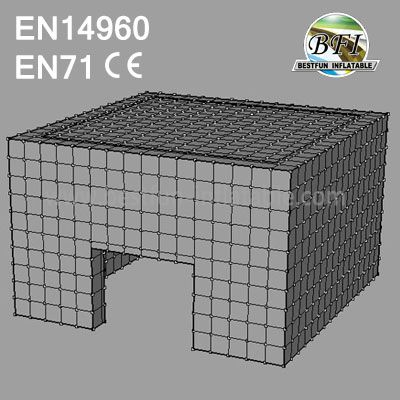 Inflatable Lawn Cube Tent For Party