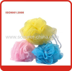 Blister with color card Nylon Bath Ball Mesh Sponge Bath Scrubber