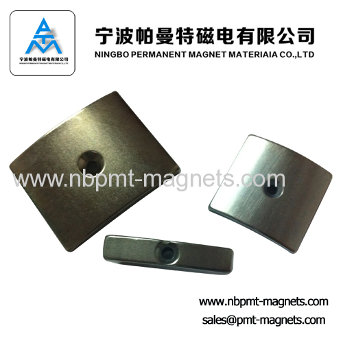Sintered NdFeB arc magnets for motor