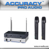 VHF DUAL CHANNEL WIRELESS MICROPHONE VHF-207