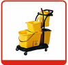 36QT American style mop cleaning bucket wringer Side pressing trolley