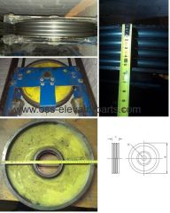 Counterweight deflection sheave (pulley) 400*4*10mm, width L=57mm, shaft d=60mm OTIS