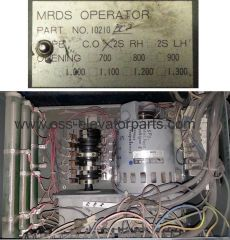 Door operator MRDS gear box with DC motor J0197B2(2S) 110W 9,9RPM 110VDC 1,6A Ratio 75/1 Opening width 1200mm