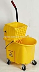 24QT American style PP 100% new material pressing mop cleaning bucket wringer trolley