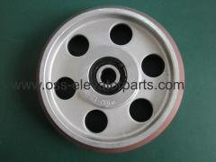 Guide rollers for 16mm car rails dia 160 mm