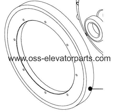 Handrail traction sheave 506NCE for sprocket drive type