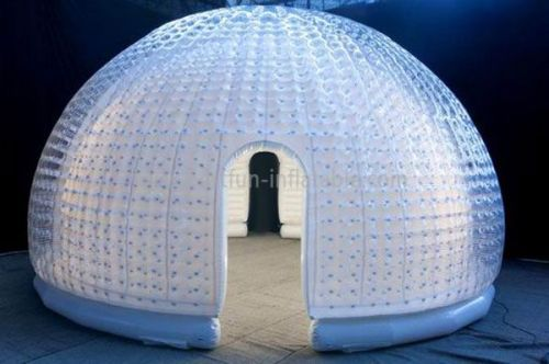 Double Layer Amusement Inflatable Clear Bubble Dome Tent