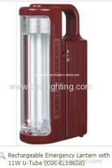 Rechargeable Emergency Lantern with 11W U-TUBE