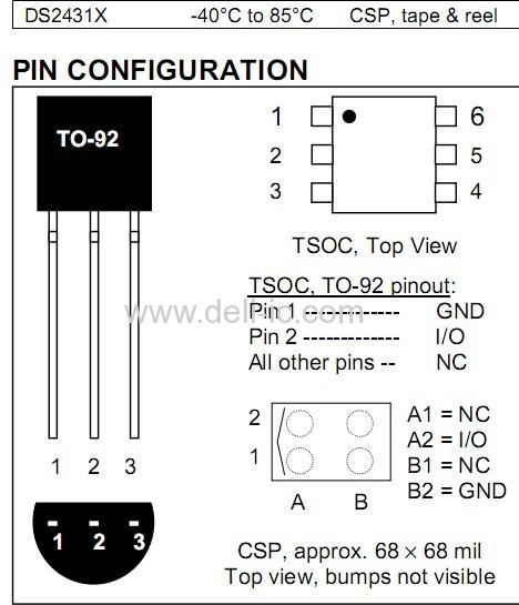 ds2431 - 1024-bit 1-wire eeprom