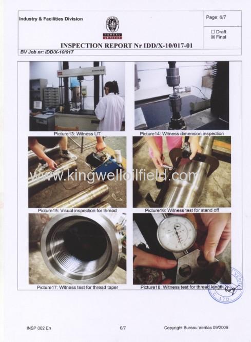 API Petroleum 9-1/2Spiral Drill Collar