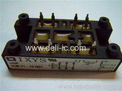 VUB71 - Three Phase Rectifier Bridge with IGBT and Fast Recovery Diode for Braking System - IXYS Corporation