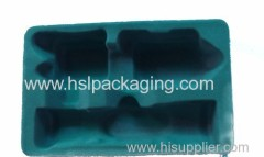 plastic flocked package wine tray
