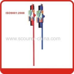 Fixed steel handle plastic floor squeegee with EVA sponge cleaning squeegee